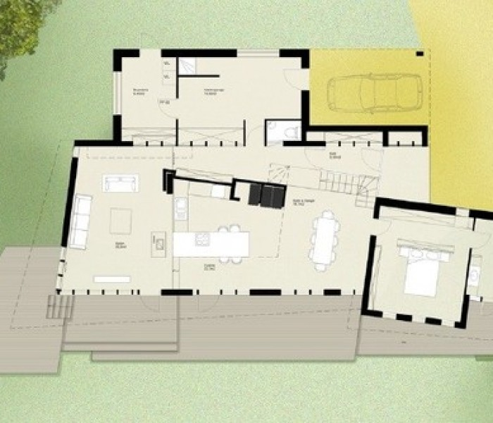 Espace dynamique pour une maison individuelle à Niergnies