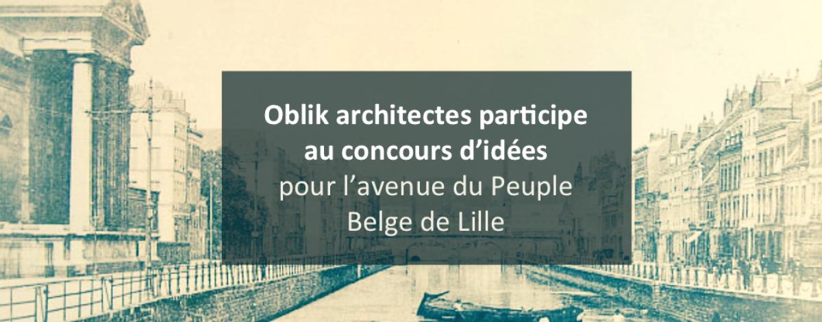 blik architecte concours d'idées avenue du Peuple Belge