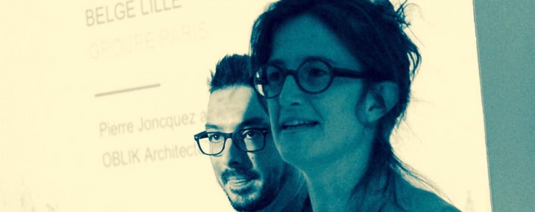 Oblik lauréat du concours d'architectes pour l'aménagement de l'avenue du Peuple Belge
